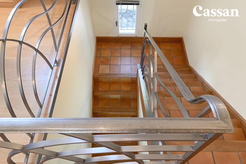 escalier tomette fer forgé