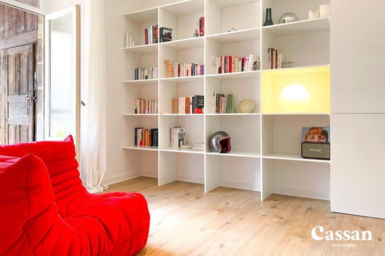 bibliothèque fauteuil design