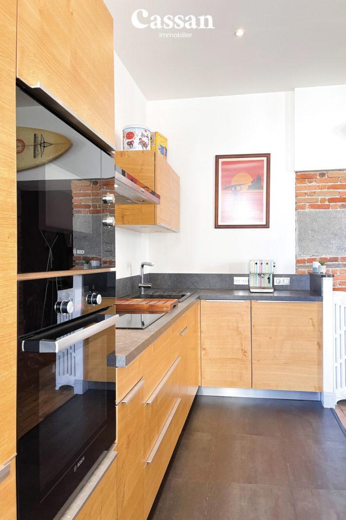 cuisine ouverte appartement brique